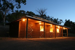 Stables At Night